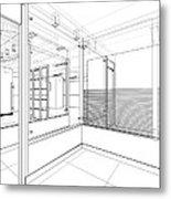 Abstract Interior Construction Metal Print