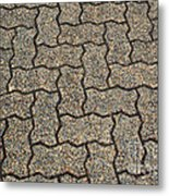 Abstract Interlocking Pavement Metal Print