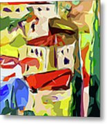 Abstract Italy Lago Di Como Metal Print by Ginette Callaway