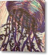 Abstract Jellyfish In Ink Metal Print