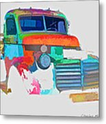 Abstract Jimmy Metal Print