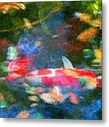 Abstract Koi 1 Metal Print