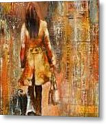 Abstract Lady  5 Metal Print