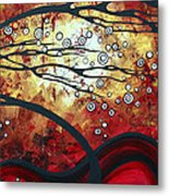 Abstract Landscape Art Original Painting Where Dreams Are Born By Madart Metal Print