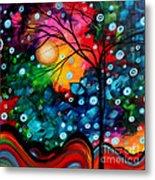 Abstract Landscape Colorful Contemporary Painting By Megan Duncanson Brilliance In The Sky Metal Print by Megan Duncanson