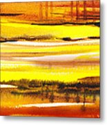 Abstract Landscape Found Reflections Metal Print