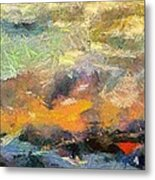 Abstract Landscape II Metal Print