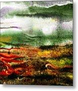 Abstract Landscape Sunrise Sunset Metal Print