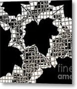 Abstract Leaf Pattern - Black White Sepia Metal Print by Natalie Kinnear