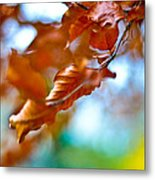Abstract Leafs Metal Print