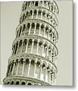 Abstract Leaning Tower Of Pisa Metal Print