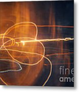 Abstract Light Streaks Metal Print