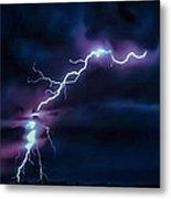 Abstract Positive Striker Lightning 13 Metal Print