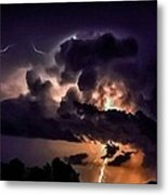 Abstract Lightning 14 Metal Print