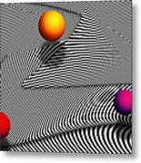 Abstract - Lines - That's A Moire Metal Print