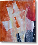 Abstract Lovers Metal Print
