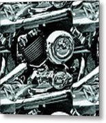 Abstract Motor Bike - Doc Braham - All Rights Reserved Metal Print