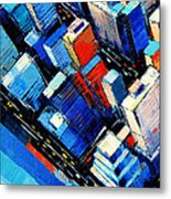Abstract New York Sky View Metal Print