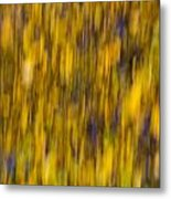 Abstract Of Autumn Gold Metal Print
