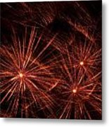Abstract Of Fireworks On Black Metal Print