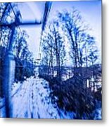 Abstract On A Ski Lift Metal Print