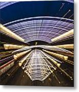 Abstract On The Pier Metal Print
