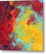 Abstract Original Painting Colorful Vivid Art Colors Of Glory I By Megan Duncanson Metal Print