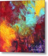 Abstract Original Painting Colorful Vivid Art Colors Of Glory II By Megan Duncanson Metal Print