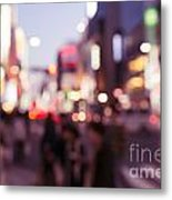 Abstract Out-of-focus City Scenery With Colorful Lights Metal Print