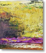 Abstract Painted Yellow Art Backgrounds Metal Print