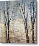 Abstract Painting Morning Fog Metal Print