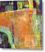 Abstract Painting Simple Pleasure Metal Print