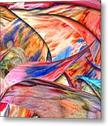 Abstract - Paper - Origami Metal Print