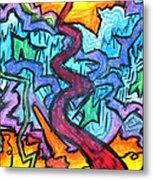 Abstract Paths Metal Print