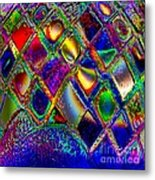Abstract Patterns And Shapes Metal Print by Doris Wood