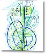 Abstract Pen Drawing Fifty-eight Metal Print