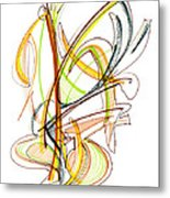 Abstract Pen Drawing Fifty-nine Metal Print