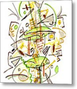 Abstract Pen Drawing Fifty-seven Metal Print