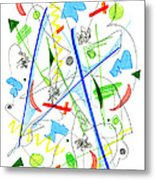 Abstract Pen Drawing Fifty-three Metal Print