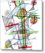 Abstract Pen Drawing Forty-nine Metal Print