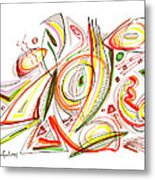 Abstract Pen Drawing Forty-six Metal Print