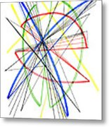 Abstract Pen Drawing Seventy-five Metal Print