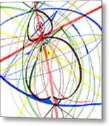 Abstract Pen Drawing Seventy-four Metal Print