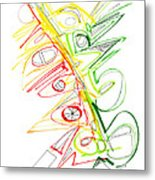 Abstract Pen Drawing Seventy-one Metal Print
