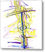 Abstract Pen Drawing Seventy-two Metal Print