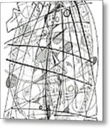 Abstract Pen Drawing Sixty-eight Metal Print