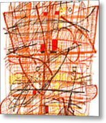 Abstract Pen Drawing Sixty-one Metal Print