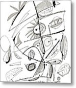 Abstract Pen Drawing Sixty-seven Metal Print