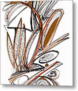 Abstract Pen Drawing Sixty-six Metal Print