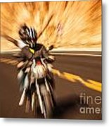 Abstract Photo Of Riders Metal Print